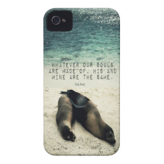 Love romantic couple quote beach Emily Bronte iPhone 4 Cases