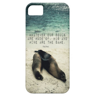 Love romantic couple quote beach Emily Bronte iPhone 5 Case