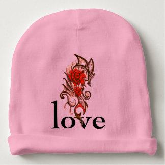 love rose baby beanie