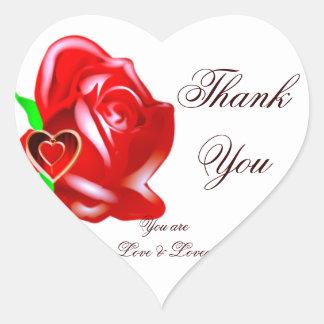 Love-Rose & Heart_ Heart Sticker