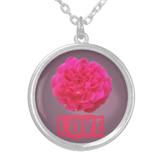 Love Rose Silver Plated Necklace
