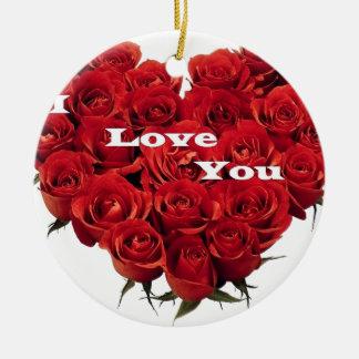 love roses. round ceramic decoration