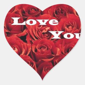 love roses. heart sticker