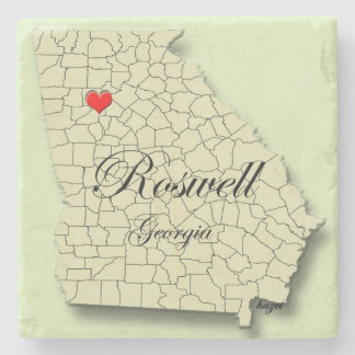 Love Roswell Georgia, Map, Coaster