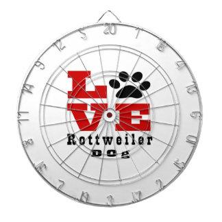 Love Rottweiler Dog Designes Dartboards