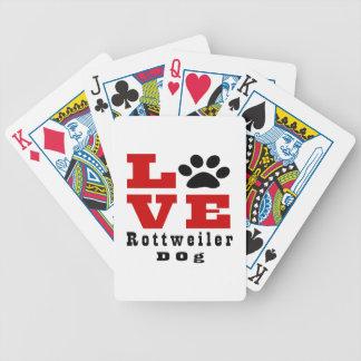 Love Rottweiler Dog Designes Poker Deck