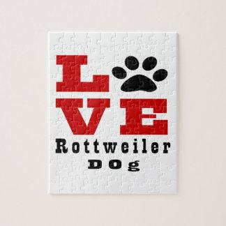 Love Rottweiler Dog Designes Puzzle