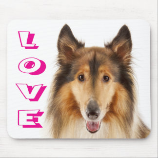Love Rough Collie Puppy Dog Mousepad