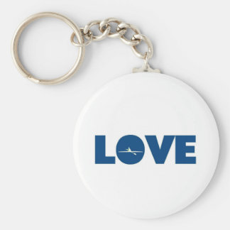 Love rowing key ring