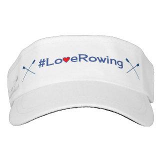 Love rowing navy hashtag sports visor