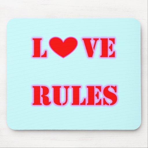 Love Rules Heart Mousepad