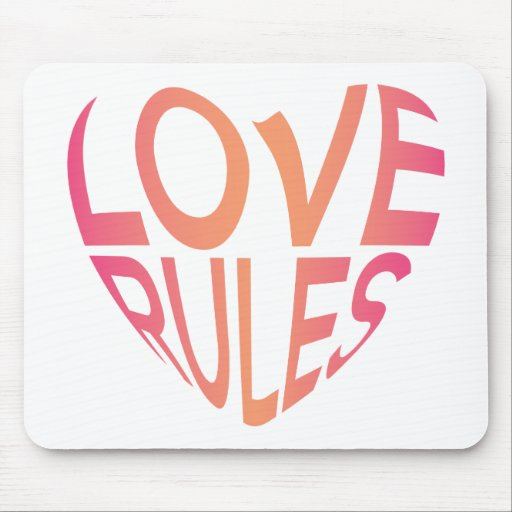 Love Rules Mousepads