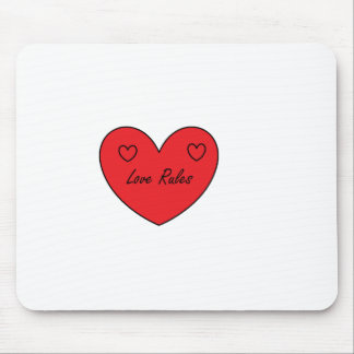 love rules range. mouse pad