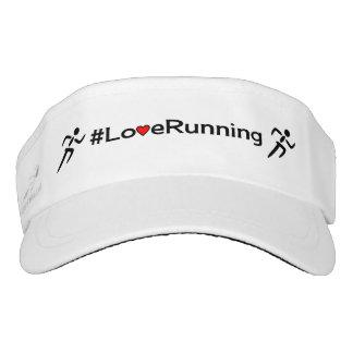 Love running hashtag sports visor
