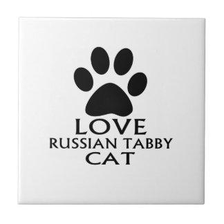LOVE RUSSIAN TABBY CAT DESIGNS CERAMIC TILE