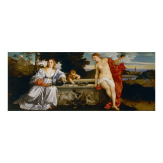 Love Sacred and Profane Love by Titian Poster
