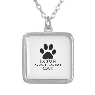 LOVE SAFARI CAT DESIGNS SILVER PLATED NECKLACE