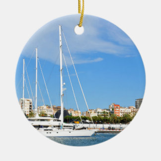 Love sailing ceramic ornament