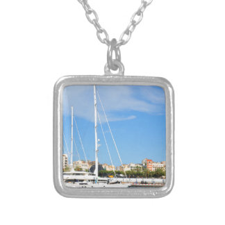 Love sailing silver plated necklace