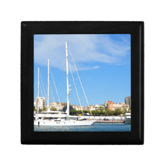Love sailing small square gift box