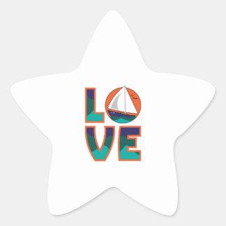 LOVE SAILING STAR STICKER