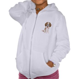 Love Saint Bernard Puppy Dog Sweatshirt Hoodie