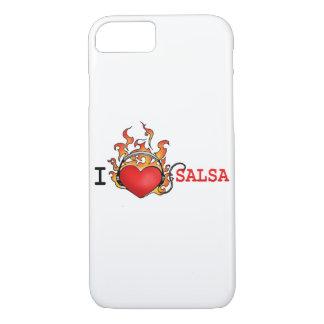 Love Salsa Heart on Fire Earphones iphone case