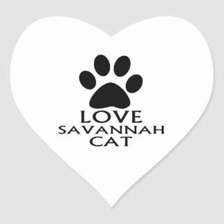 LOVE SAVANNAH CAT DESIGNS HEART STICKER
