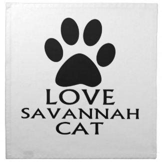 LOVE SAVANNAH CAT DESIGNS NAPKIN