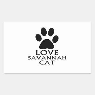 LOVE SAVANNAH CAT DESIGNS RECTANGULAR STICKER