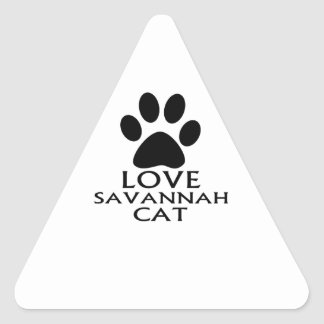 LOVE SAVANNAH CAT DESIGNS TRIANGLE STICKER