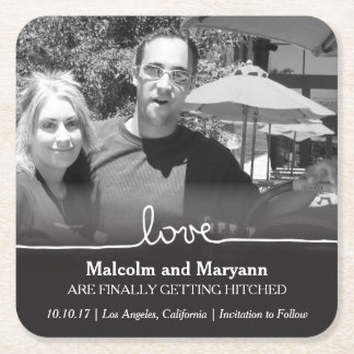 Love Save the Date Photo Coaster