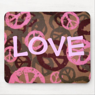 LOVE-Saying-Peace Signs/Camo Look-Mousepad