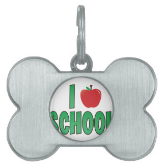Love School Pet Name Tag