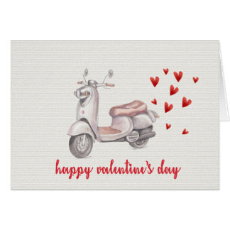 Love Scooter   Valentines Day Card