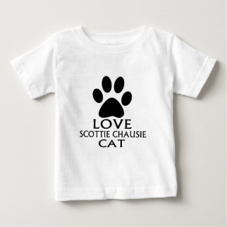 LOVE SCOTTIE CHAUSIE CAT DESIGNS BABY T-Shirt