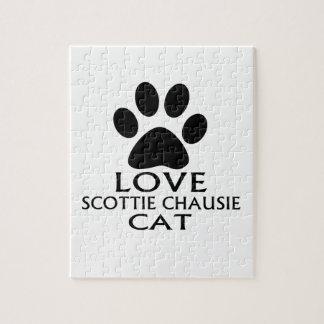 LOVE SCOTTIE CHAUSIE CAT DESIGNS JIGSAW PUZZLE