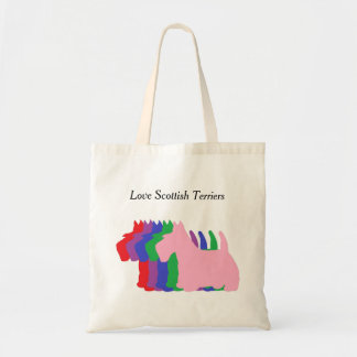 Love Scottish Terriers Budget Tote Bag