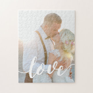Love Script Overlay Photo Jigsaw Puzzle