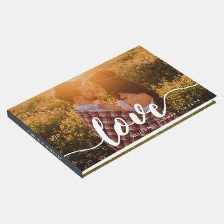 Love Script Overlay Wedding Photo Guest Book