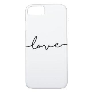 Love Script Phone Case Black and White