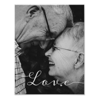 Love Script Photo Poster