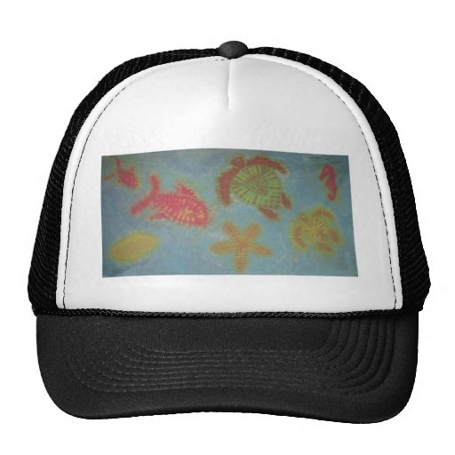 Love Sea Creatures Phat Dyes Tie Dyes Mesh Hats
