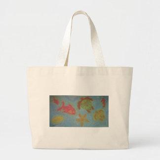Love Sea Creatures Phat Dyes Tie Dyes Jumbo Tote Bag