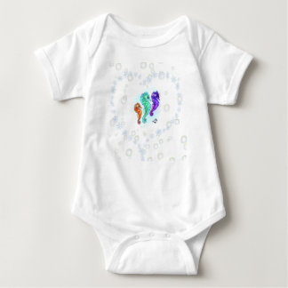 Love Sea Horses baby bodysuit