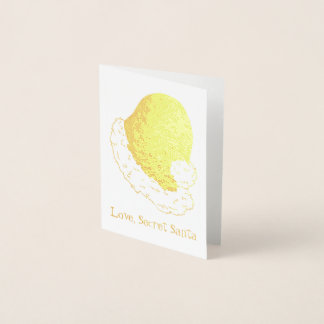 Love, Secret Santa Claus Merry Christmas Gift Xmas Foil Card