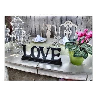 LOVE - Shabby Chic Outdoor Wedding Reception 14 Cm X 19 Cm Invitation Card