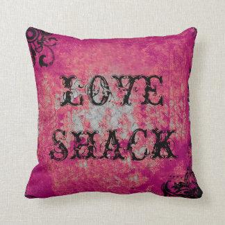 LOVE SHACK PINK & BLACK PILLOW
