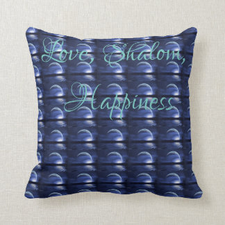 Love, Shalom, Happiness pillow