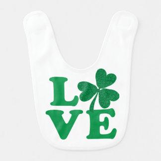 Love-Shamrock Bib